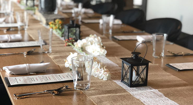The Private Dining Room can seat up to 32 guests for a meal and/or casual reception.