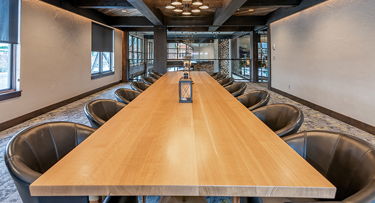 Small groups interested in having a semi-private space for entertaining can reserve our  Private Dining Room. – M. Klippert