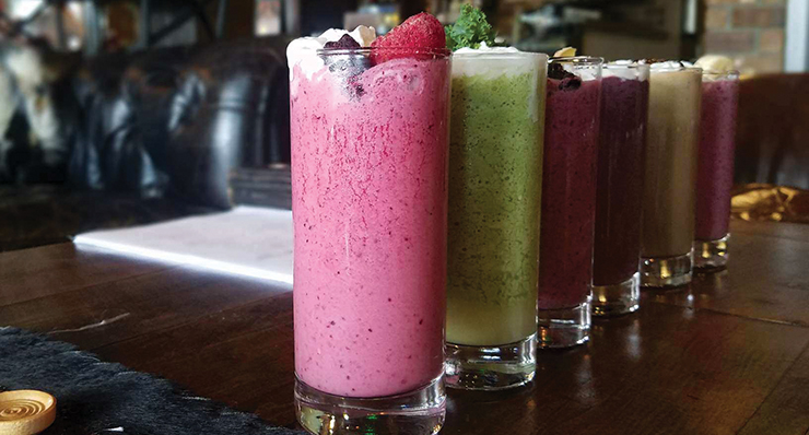 Freshly blended smoothies served daily at the coffee bar – Dina Wood