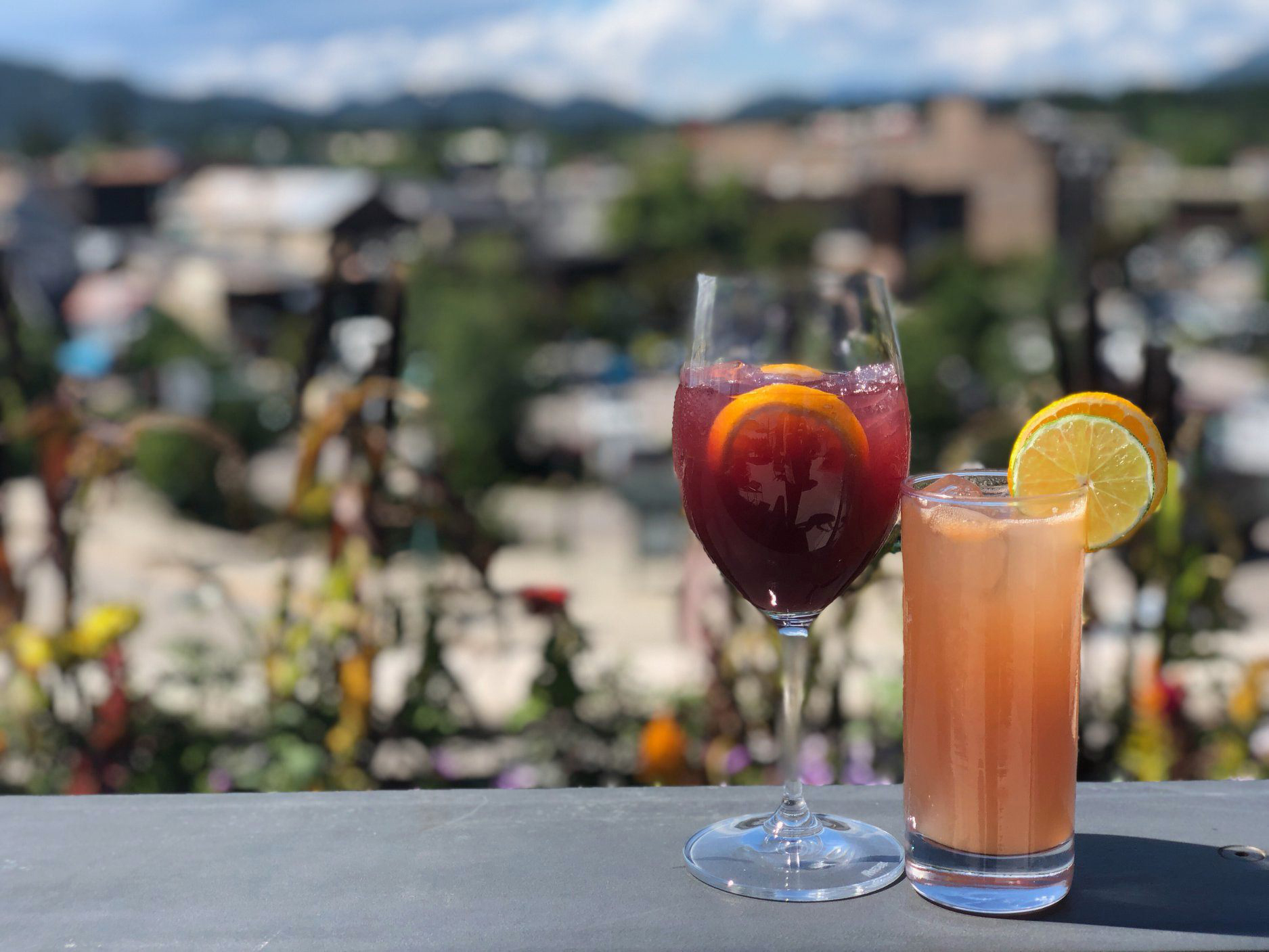 Enjoy a refreshing cocktail while to take in the views of Whitefish on our Rooftop Patio. – Rikki W.