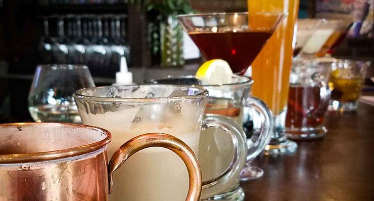 Enjoy a variety of hand crafted cocktails, fine wine & craft beer. – Rikki