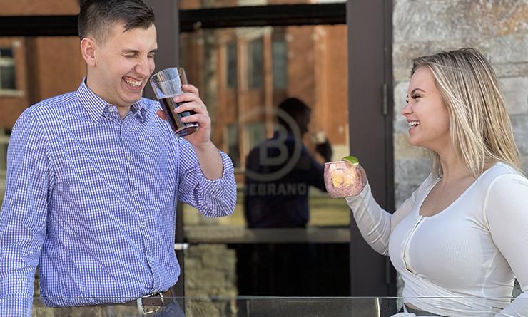 Enjoy drinks or dining al fresco on our patio!