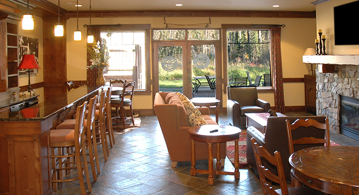The Viking Lounge is located on the lower level of the Viking Lodge