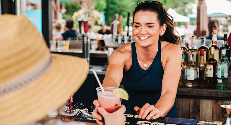 Enjoy your favorite summer cocktail or an ice cold beer at The Tiki Bar & Grill