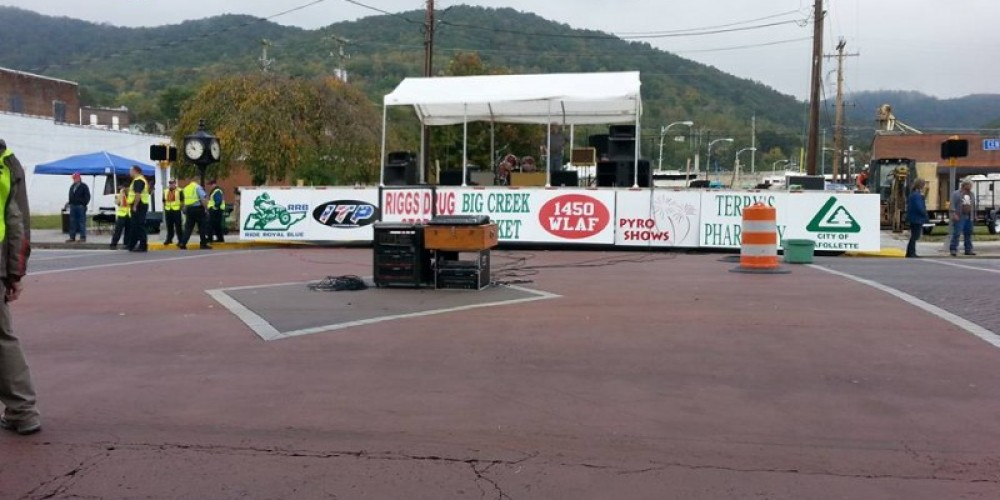 Stage a the Big Creek Fall ATV Festival