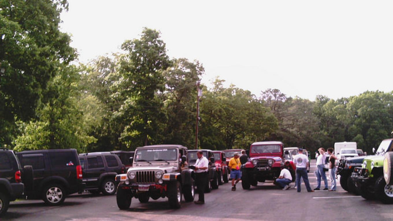 The annual Jeep Jamboree occurs at Turkey Bay OHV Area in Land Between the Lakes National Recreation Area in Western Kentucky and Tennessee. – Land Between the Lakes staff