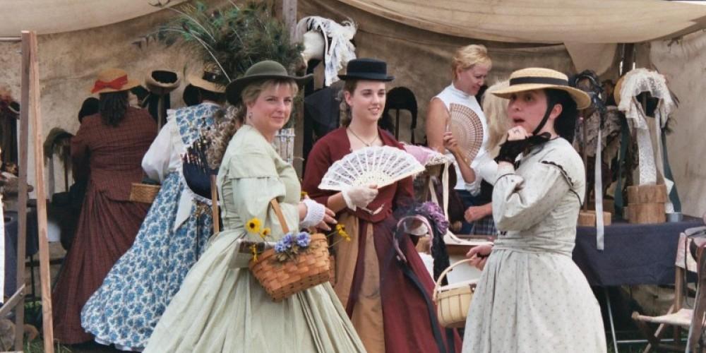 Battles of Tunnel Hill Reenactment - Ladies in antebellum dress