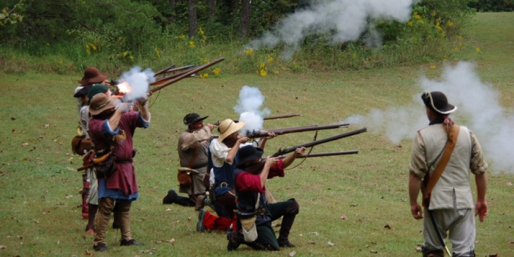 Regiment of Knox County, Tennessee Militia at Sevier Days 2010.