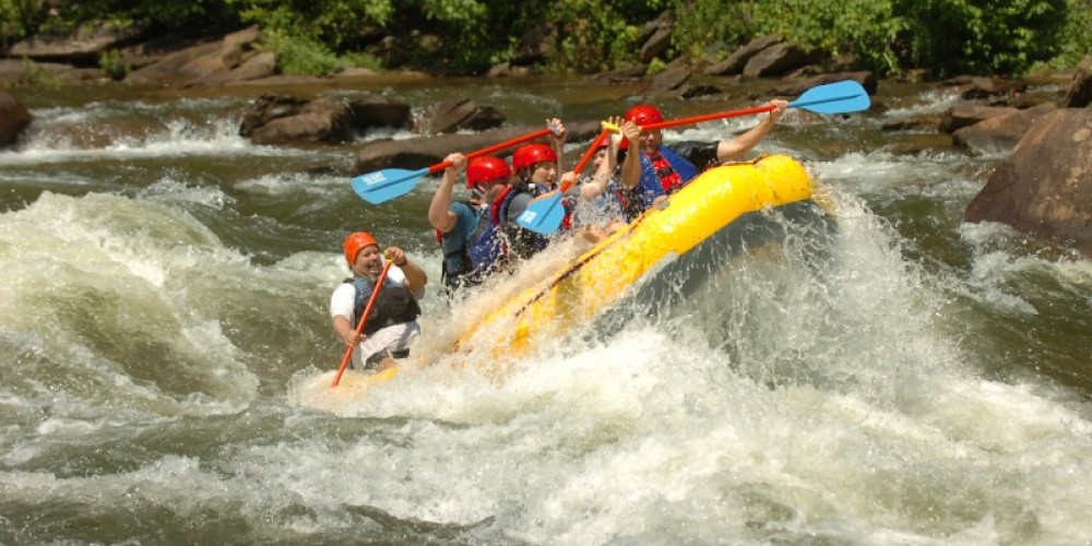 Double Trouble rapid on the Ocoee River – Dee Pullen with Ocoee Photos