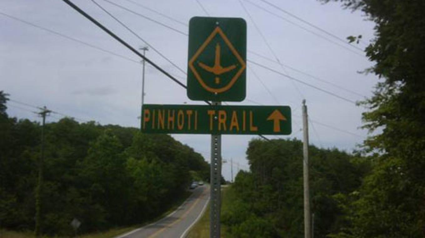 Pinhoti Trail Highway Sign in Whitfield County, GA – Whitfield County