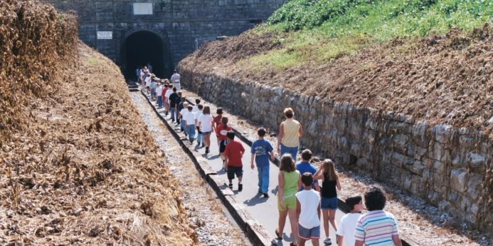 Group Tour entering the Historic Western & Atlantic Tunnel – Kristi Thomas