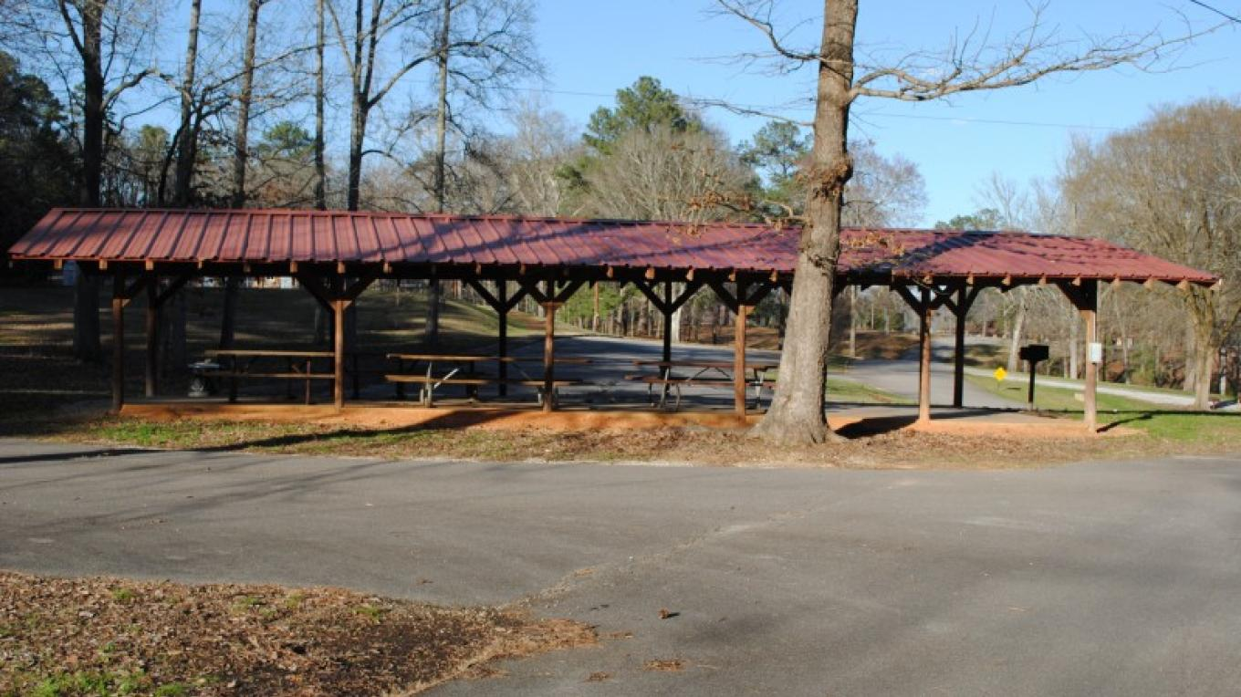 Large picnic shelter for groups. – James Gibson