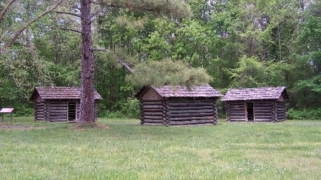 Sleeping Huts at Red Clay State Historic Park – State Photo