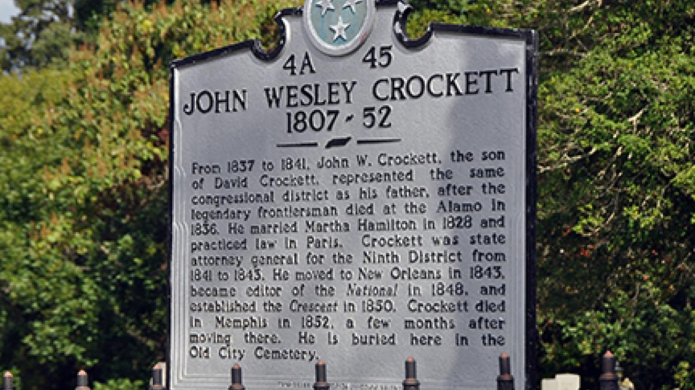 Henry County is home to numerous descendants of the famous Crockett family. John W. Crockett was the son of the famous frontiersman, Davy Crockett. – Jean Owens