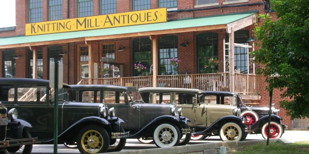 The Knitting Mill today, during a visit by a 1930's Touring Car Club! – Lynn Short