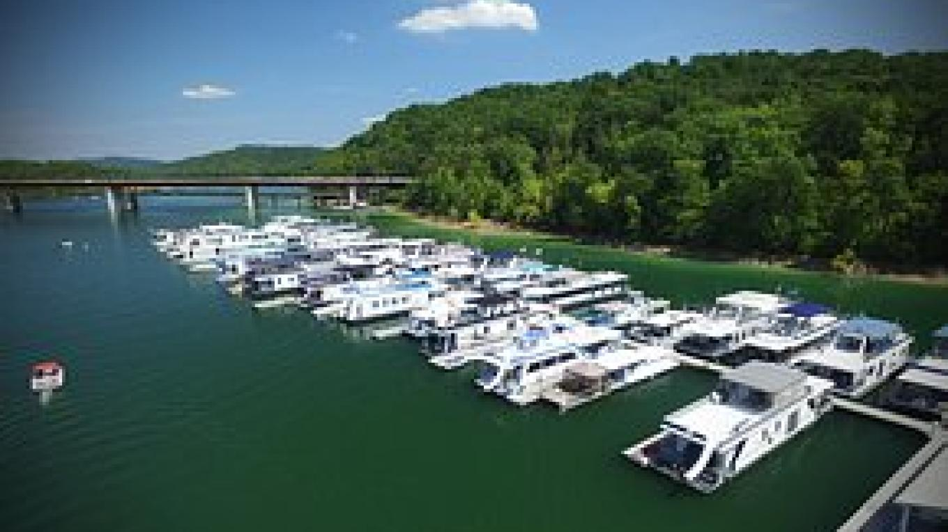 Houseboat Slips aerial