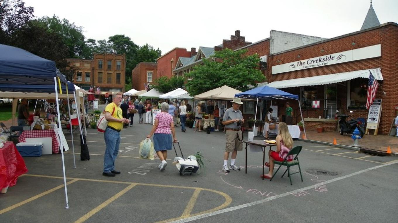 View of market from parking lot – Susan Roberts