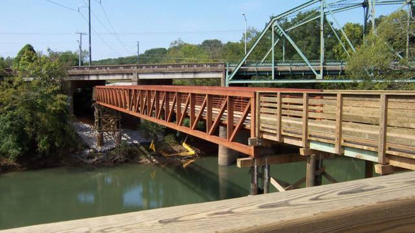 150' Bridge over the South Chickamauga Creek. – Brian Smith