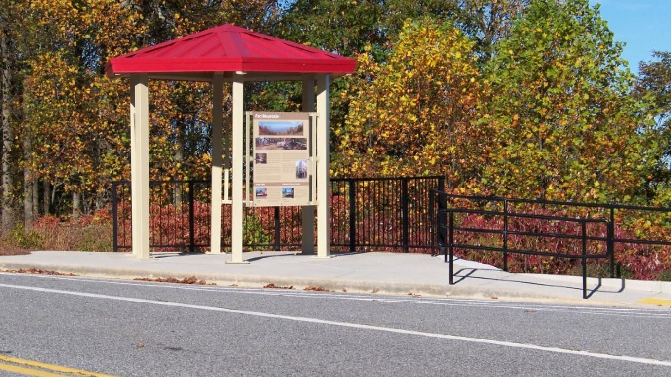 Kiosk on top of Fort Mountain, the start of the Byway on the eastern terminus.