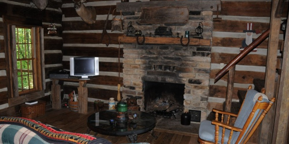 All Bear Creek Log Cabins are reconstructed from original 1800's American Pioneer log giving guests a truly rustic feel. – John Dersham