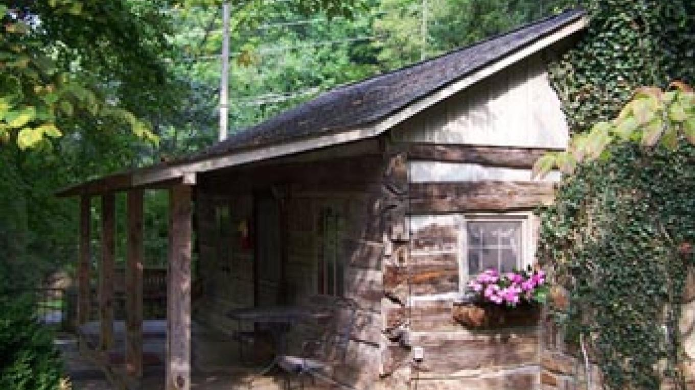 The 'original log cabin' at Carr's – Amy H McCarter
