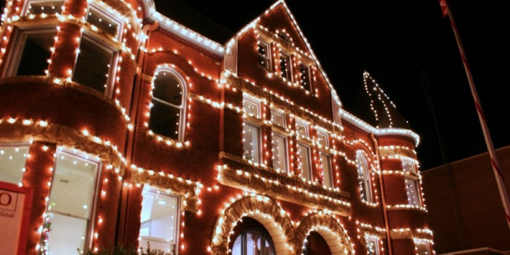 Temperence Building - Holiday Lights, Harriman, TN