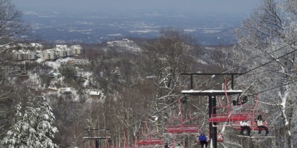 From the top of Ober Shoot looking down on the valley – Ober Gatlinburg