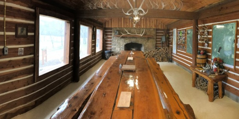 The Cooking Cabin is available for family means and gatherings. – Butch McElwain