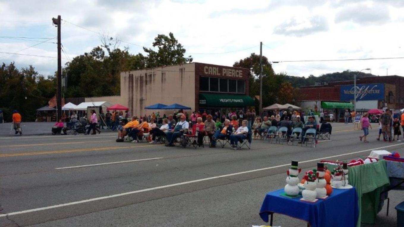 Downtown festivities of the Big Creek Fall ATV Festival