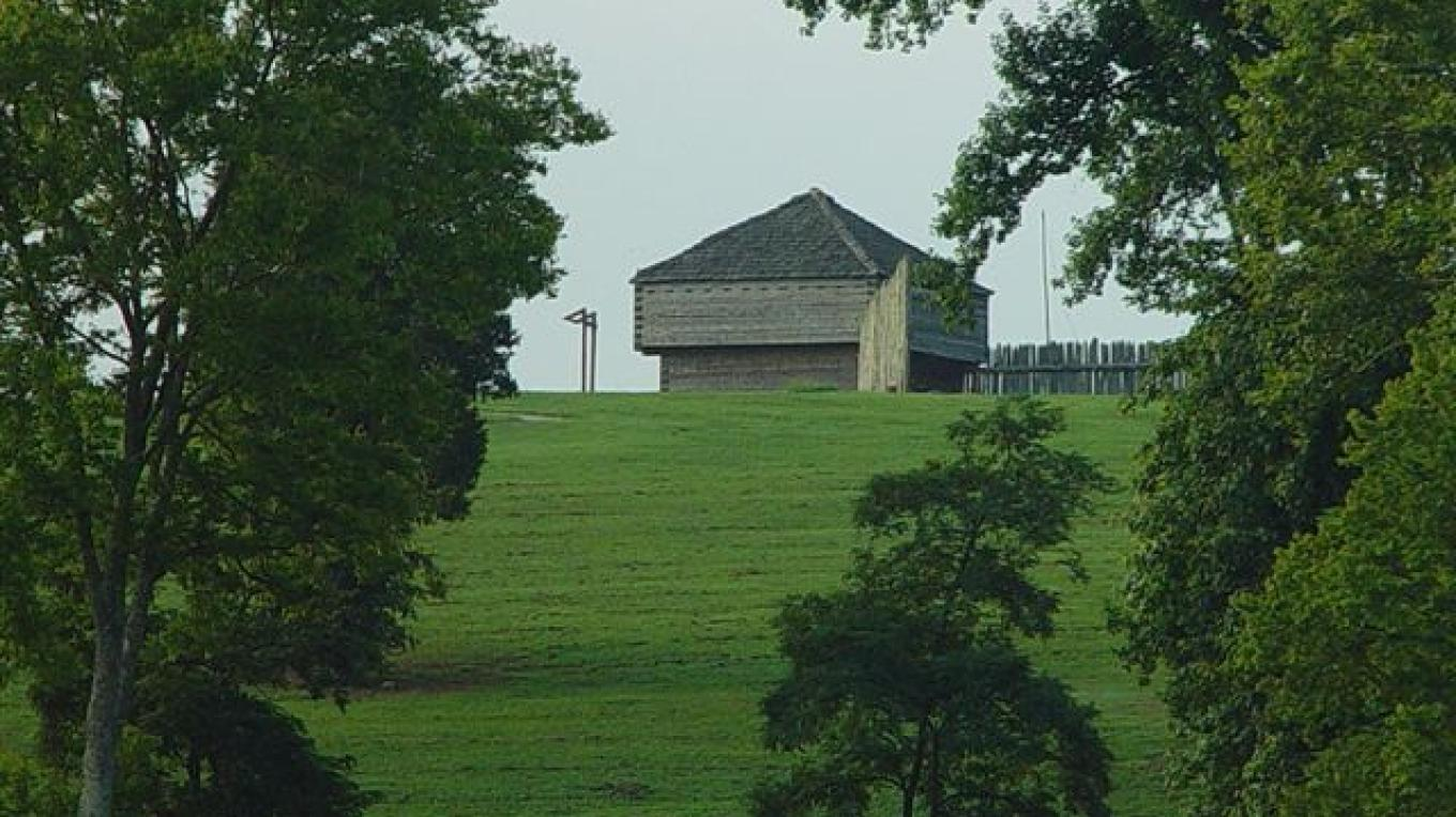 View of the fort from Watts Bar Lake – Roane County Visitors Bureau
