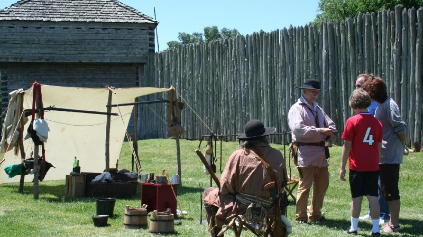 Reenactors on display during the History Days held during the summer. – Pam May