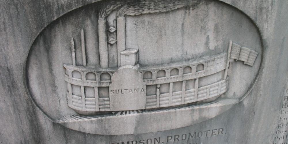 The Sultana carved in relief – Bob Davis