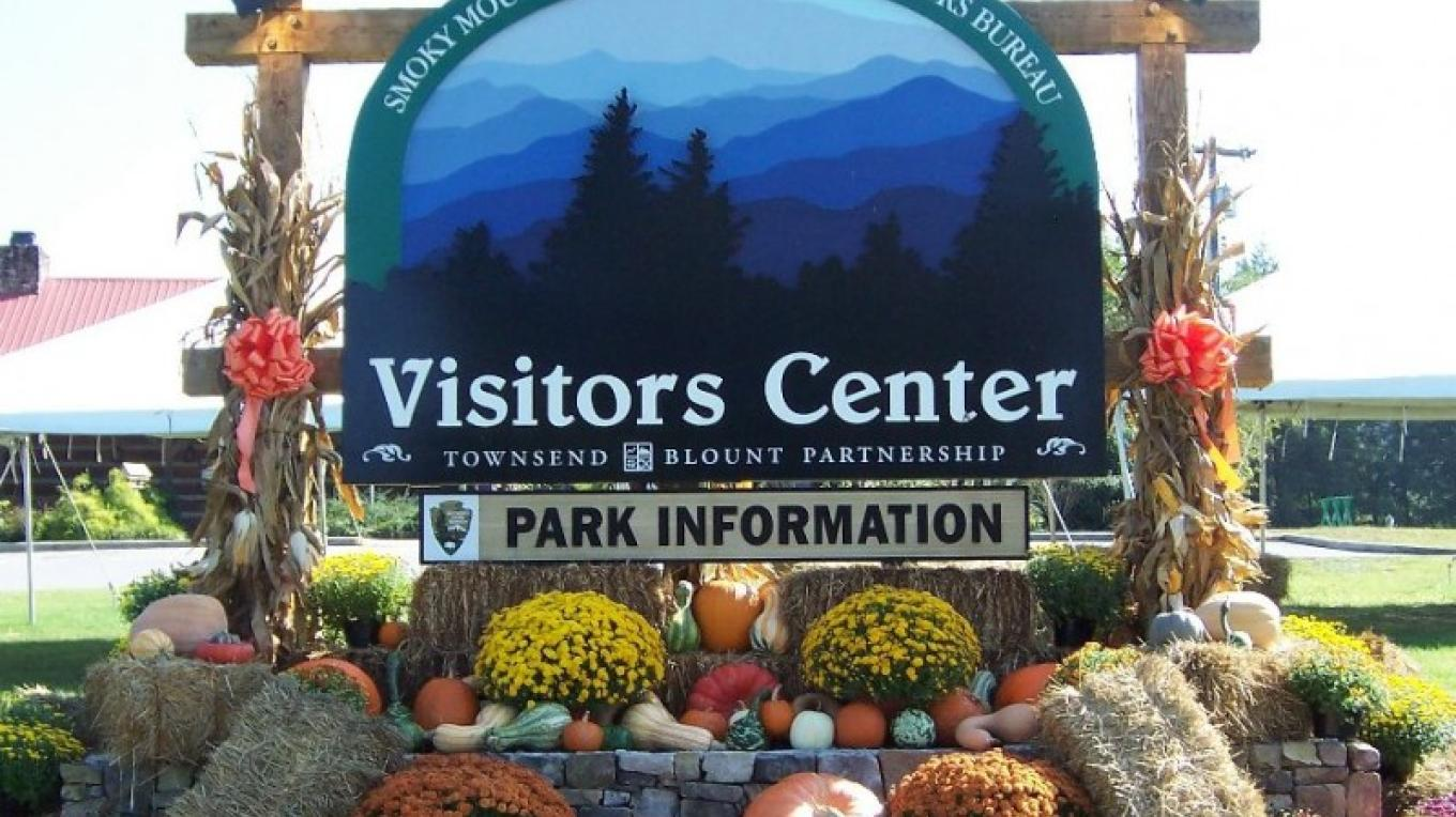 Visitors Center sign – Townsend Visitors Center