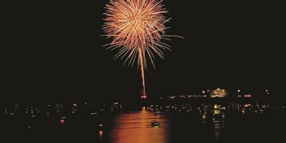 The Point Resort and Marina throws a spectacular fireworks show every July 3rd.