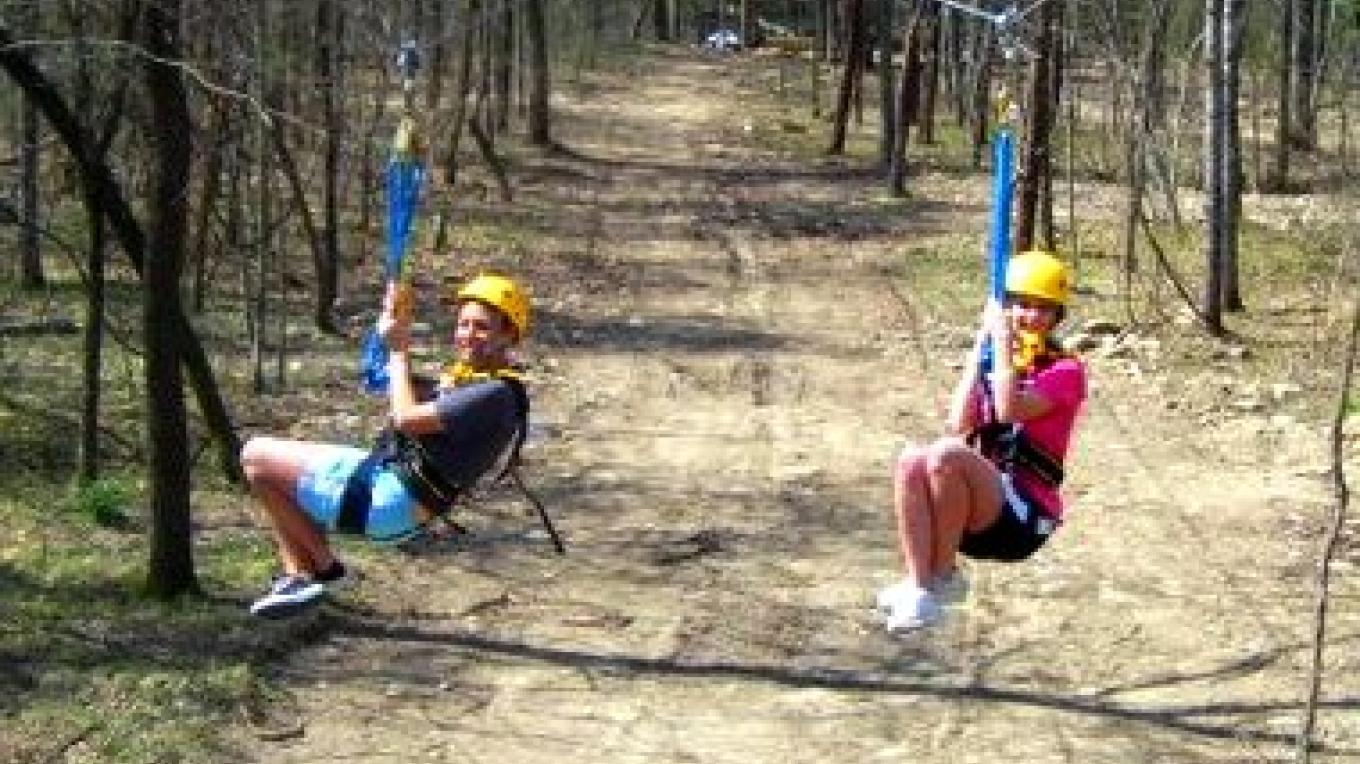 Get your feet wet on our way Zipline, it is a great way for the beginner to challenge themselves.  Race your friends on our unique side by side zipline adventure