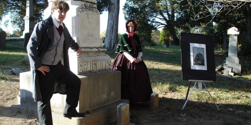 Re-enactors portray historic Clevelanders at the annual Fort Hill Cemetery Walking Tour. – Melissa Woody