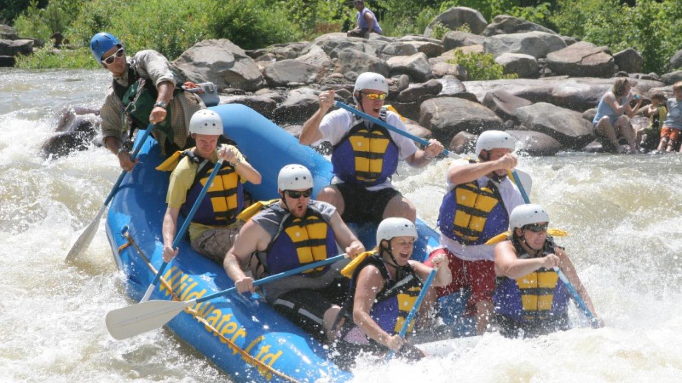 Olympic course on the Upper Ocoee – Whetstone/Wildwater Adventure Centers