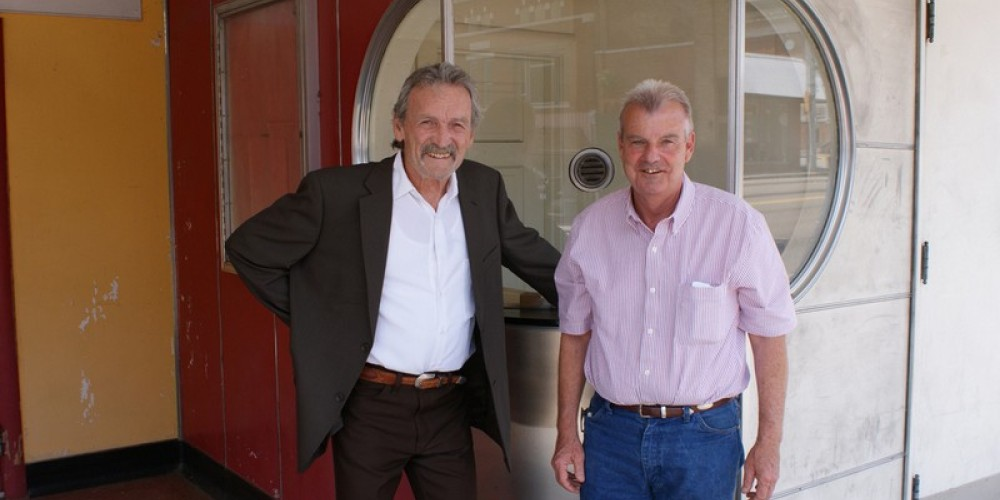 Muse Watson (actor) and Gary Baker (local business man) who shared the original dream to give the Princess Theater new life and purpose. – J. Paul Mashburn