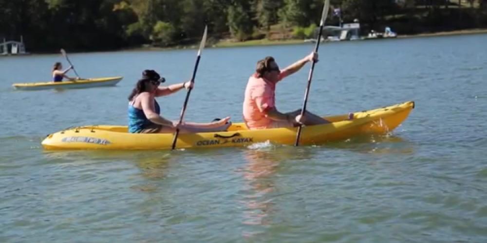 Kayaking Near Murray, Kentucky