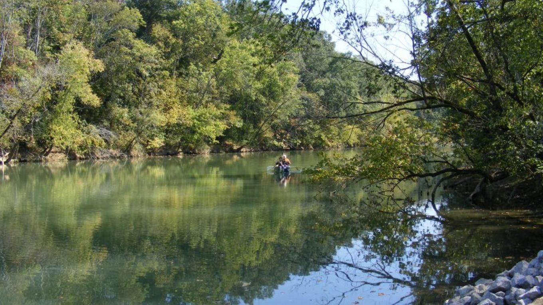Canoeing on South Chickamauga Creek