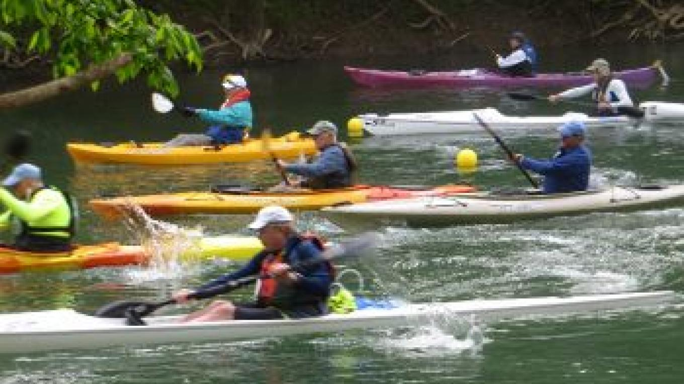 Men's 55 years and older Start at the 2015 Powell River Kayak & Canoe Rregatta – Patty Bottari
