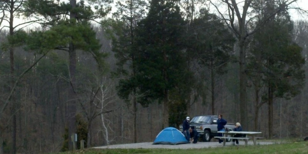 Private tent-only campsites – TVA