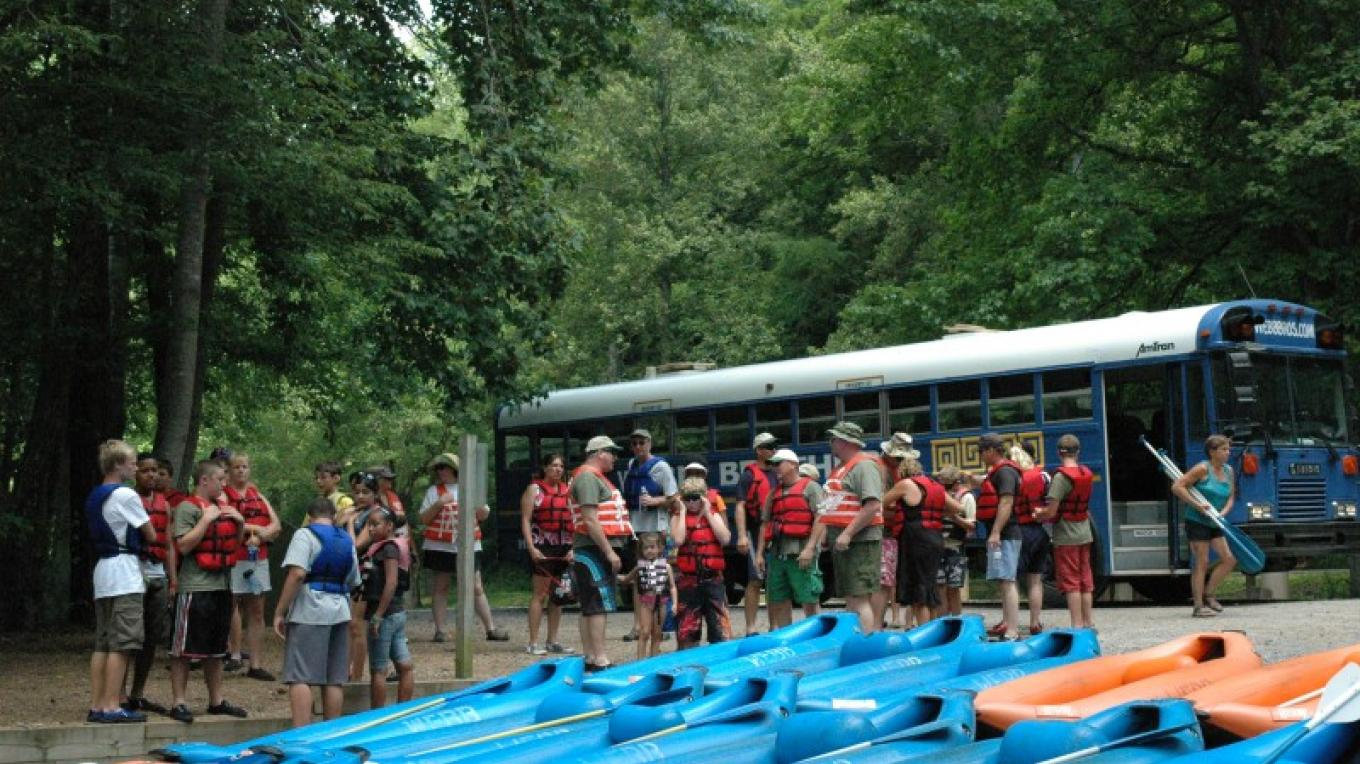Rafters on Hiwassee River – Jim Caldwell