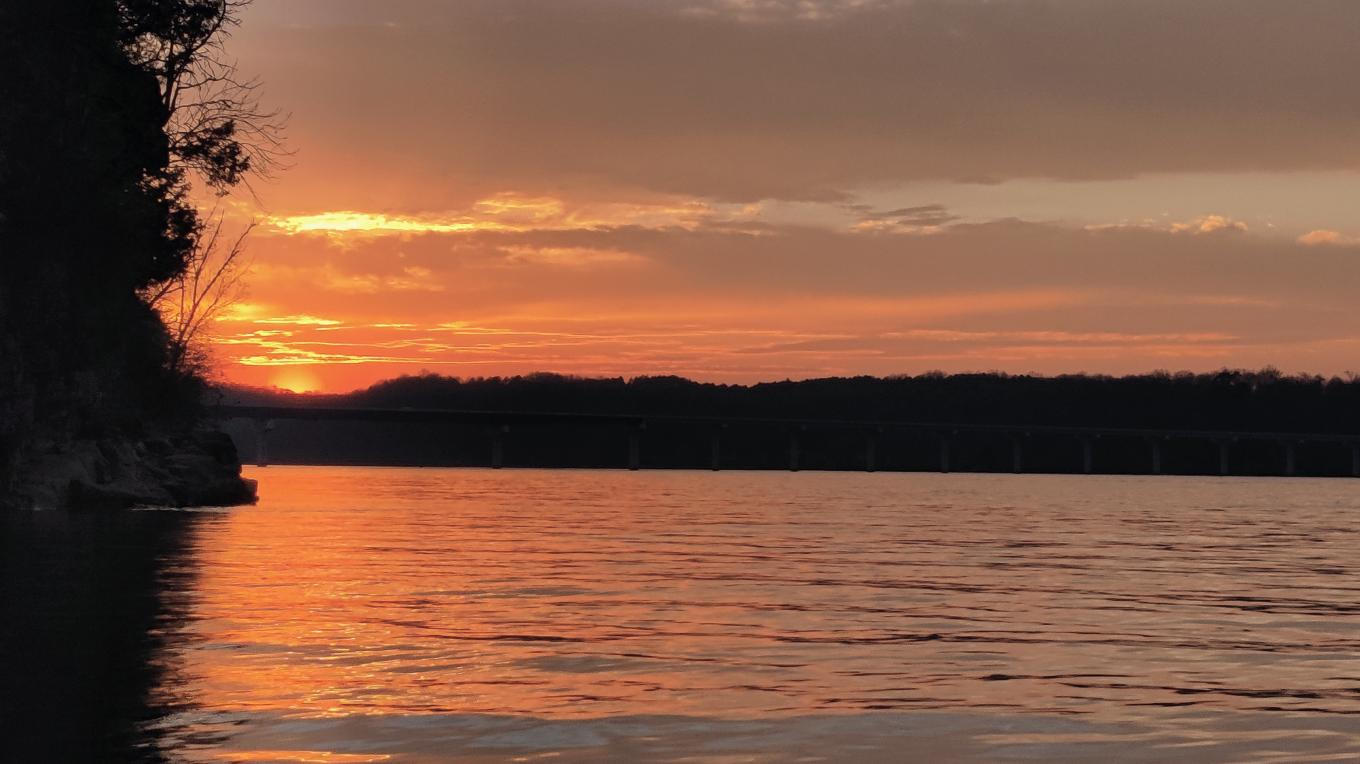 It's never too late or too soon to make time for a sunset over the Tennessee River.