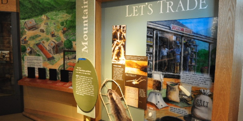 Indoor exhibits at the Oconaluftee Visitor Center – NPS