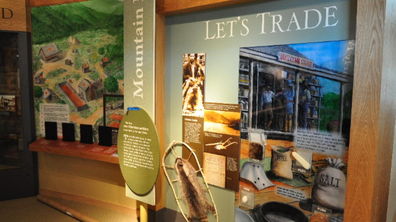 Indoor exhibits at the Oconaluftee Visitor Center – NPS