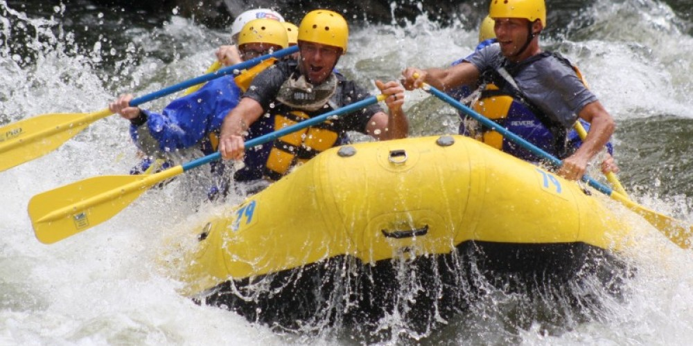 The Joy of Rafting in the Smokies can be seen on every face.  You will love the experience it is Fun and on a Hot Summer day The COOLEST thing to do.