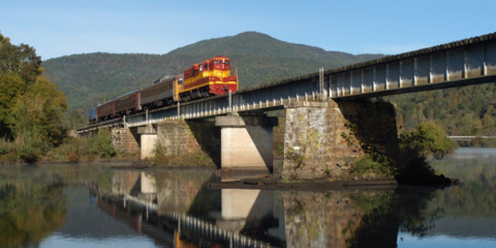 Train crossing Hiwassee river. – Jim Caldwell
