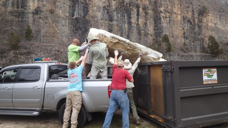 Loading dumpster – Tim Pruitt
