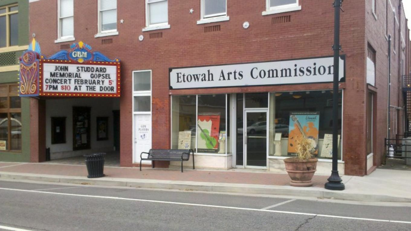 The outside of Etowah Arts Commission, next door to the historic Gem Theater. – Melanie Grace Guthrey